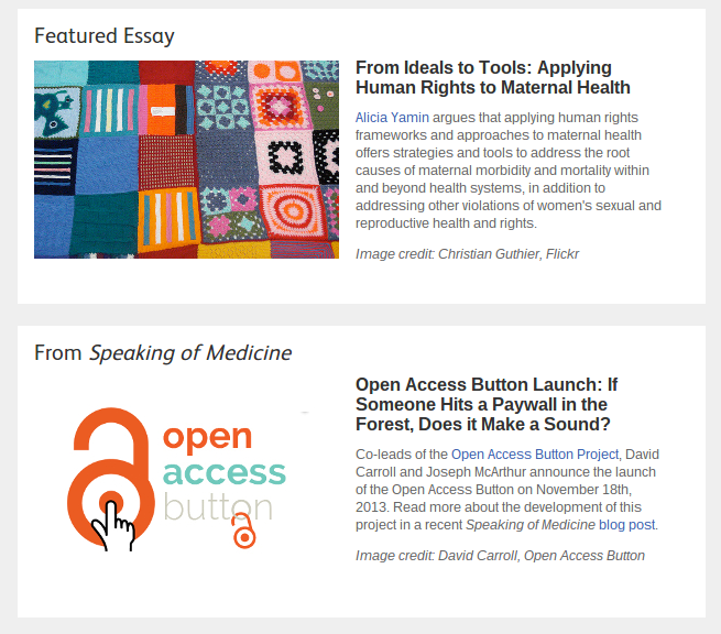 Open Access Button does speaking of Medicine front page